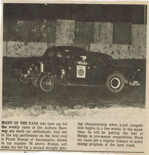 Franks '56 Chevy first race car 1966